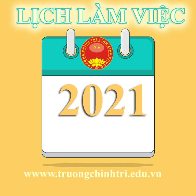 Lịch làm việc cơ quan tuần 02/2021